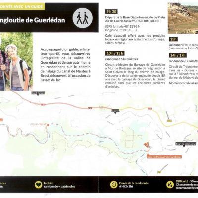 Visite de la vallée engloutie du Lac de Guerlédan du 14 mai au 31 octobre 2015, sur réservation
